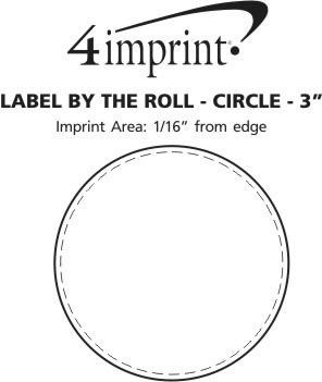"""Imprint Area of Value Sticker by the Roll - Circle - 3"""""""