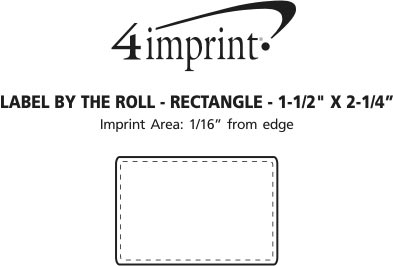 """Imprint Area of Value Sticker by the Roll - Rectangle - 1-1/2"""" x 2-1/4"""""""