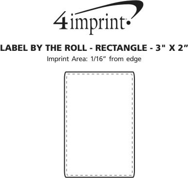 """Imprint Area of Value Sticker by the Roll - Rectangle - 2"""" x 3"""""""