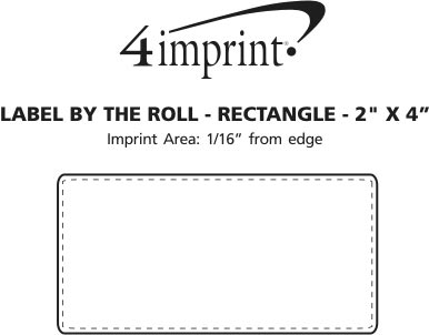 """Imprint Area of Value Sticker by the Roll - Rectangle - 2"""" x 4"""""""