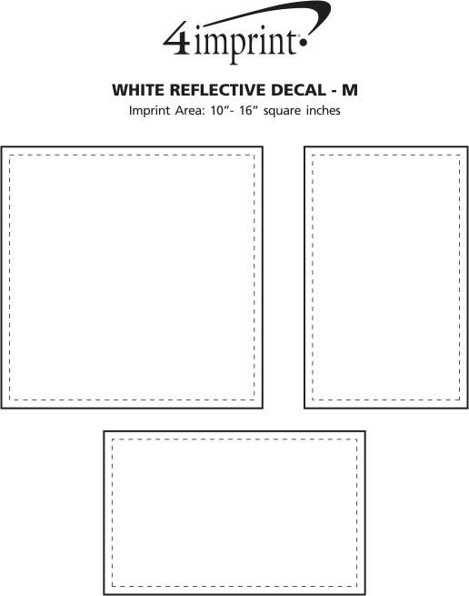 Imprint Area of White Reflective Sticker - M