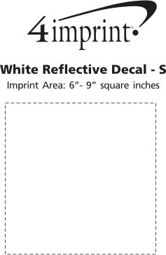 Imprint Area of White Reflective Sticker - S