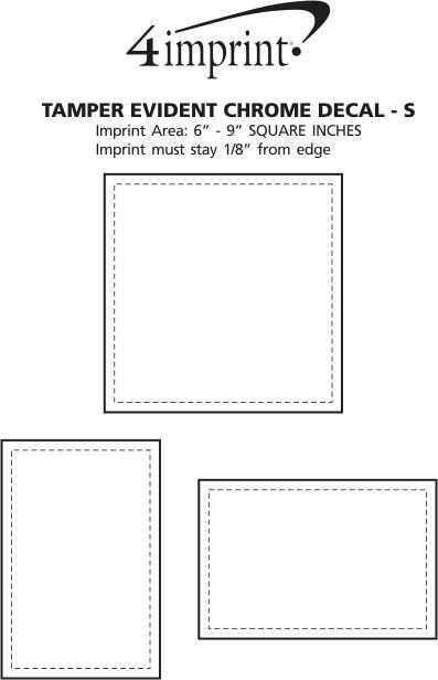 Imprint Area of Tamper Evident Chrome Sticker - S