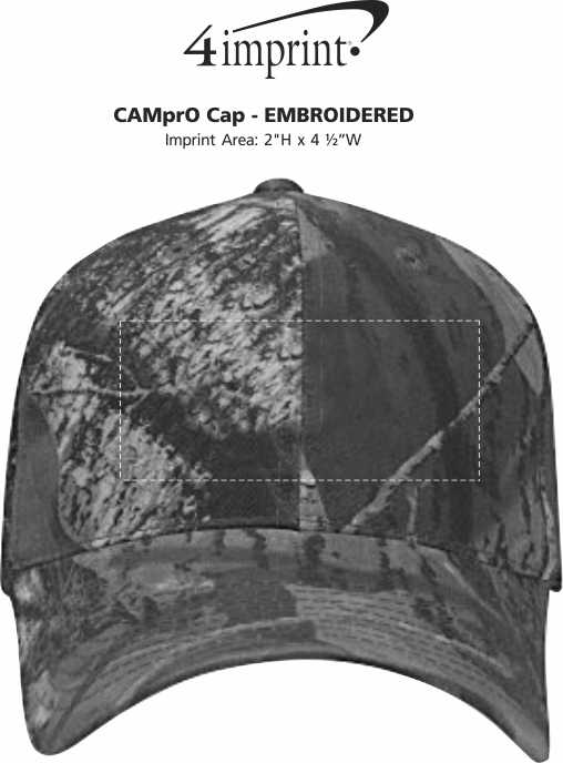 Imprint Area of CAMprO Cap - Embroidered