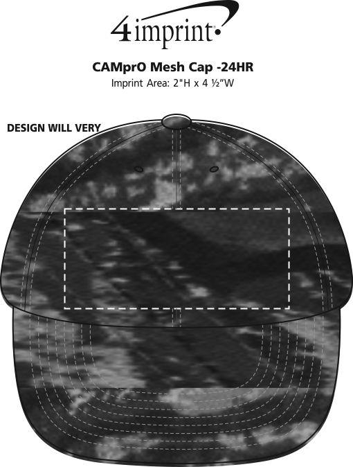 Imprint Area of Camo Mesh Cap - 24 hr