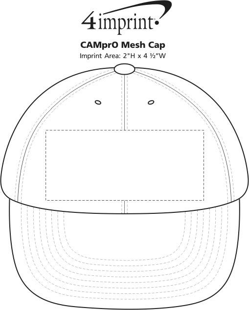 Imprint Area of Camo Mesh Cap