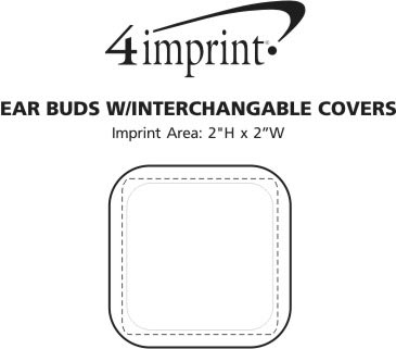 Imprint Area of Ear Buds with Interchangeable Covers