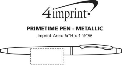 Imprint Area of Primetime Pen - Metallic
