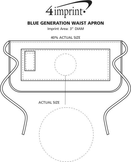 Imprint Area of Blue Generation Waist Apron