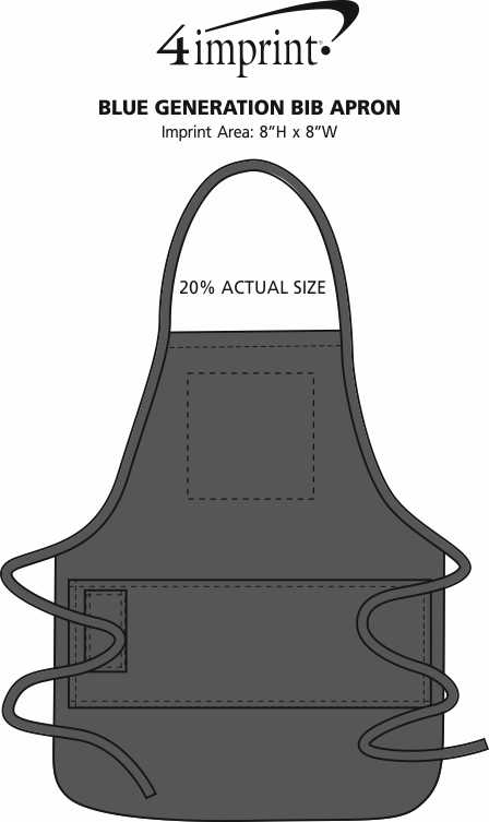 Imprint Area of Stain Release Bib Apron with Teflon Finish - Screen