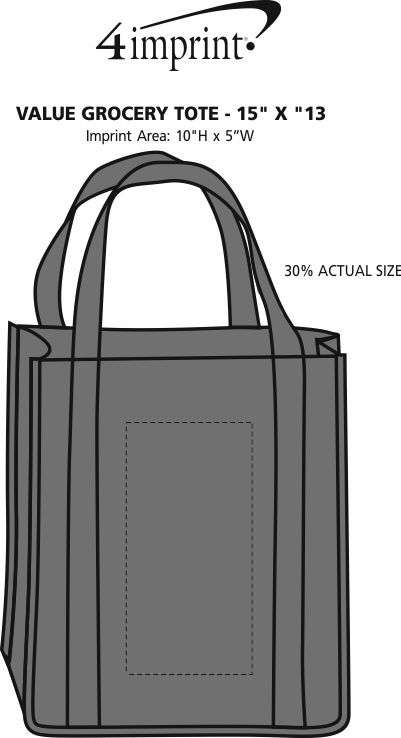 "Imprint Area of Value Grocery Tote - 15"" x 13"""