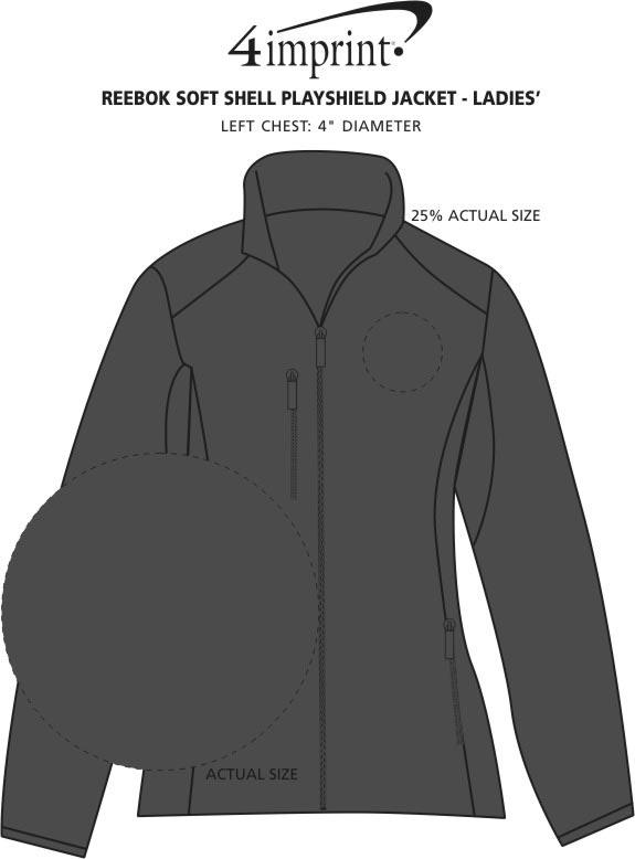Imprint Area of Reebok Soft Shell Playshield Jacket - Ladies'