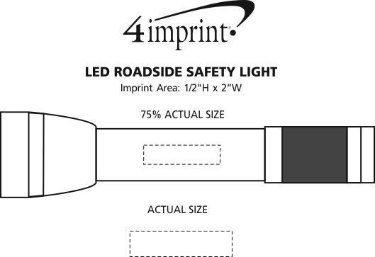 Imprint Area of LED Roadside Safety Light