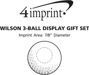 Imprint Area of Wilson 3-Ball Display Gift Set