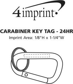Imprint Area of Carabiner Keychain - 24 hr