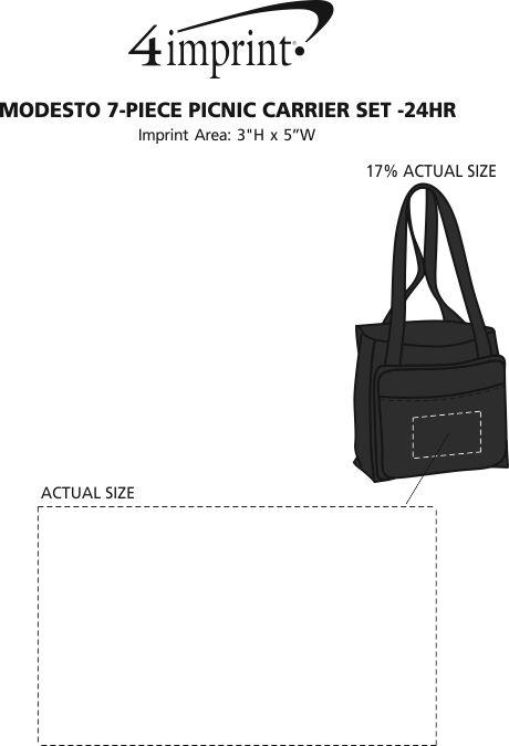 Imprint Area of Modesto 7-Piece Picnic Carrier Set - 24 hr