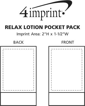 Imprint Area of Relax Lotion Pocket Pack