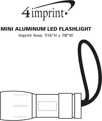 Imprint Area of Aluminum LED Flashlight