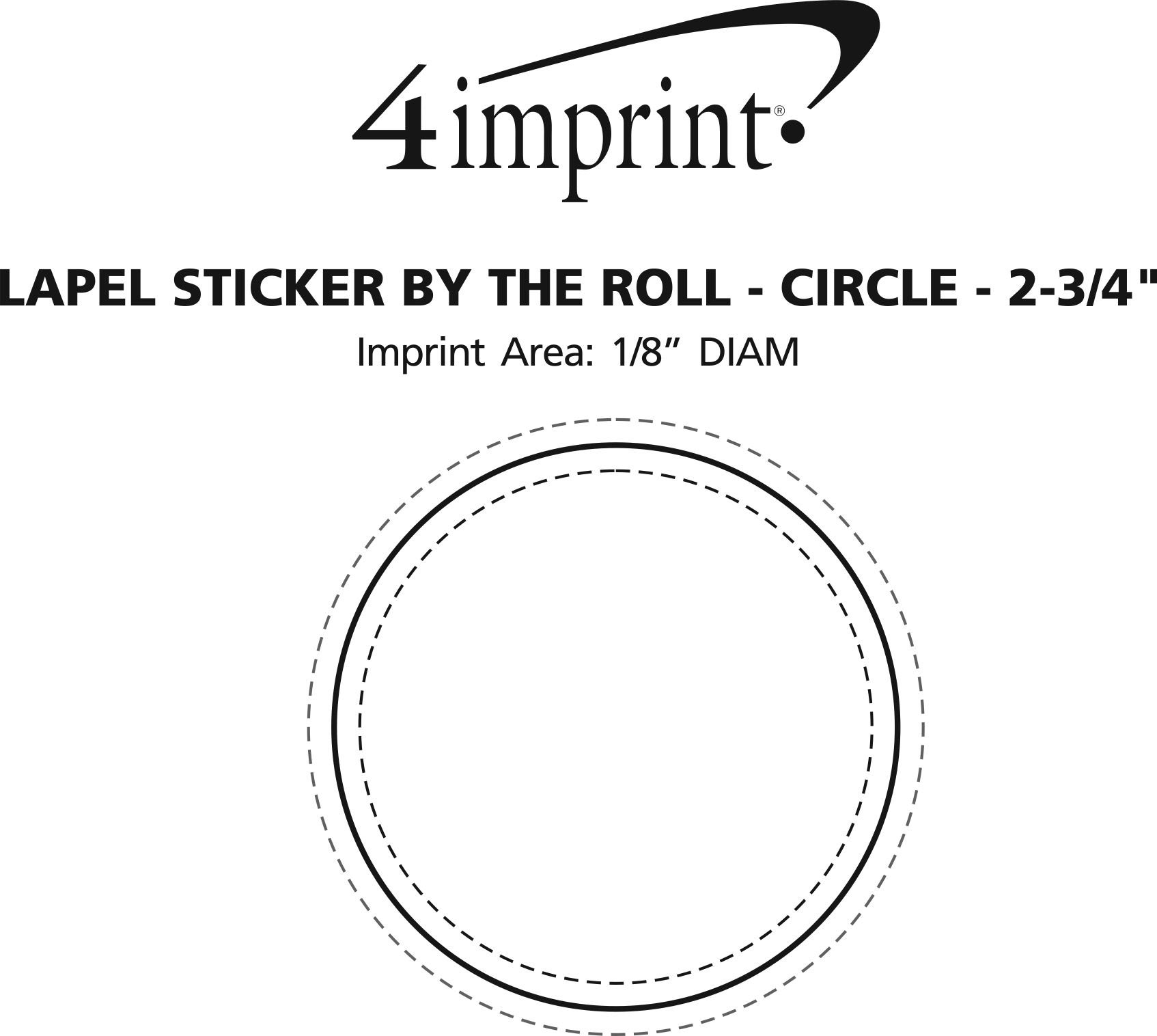 """Imprint Area of Lapel Sticker by the Roll - Circle - 2-3/4"""""""