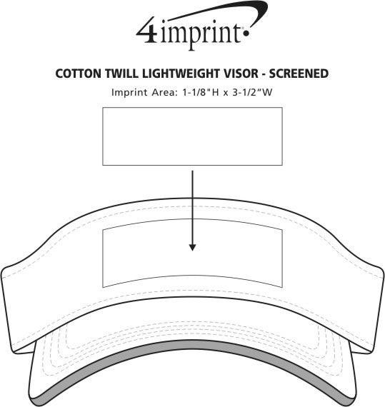 Imprint Area of Cotton Twill Lightweight Visor - Screen