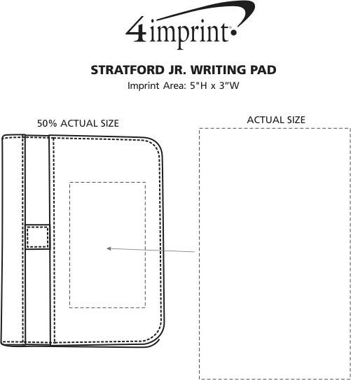 Imprint Area of Stratford Jr. Writing Pad