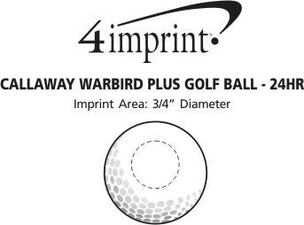 Imprint Area of Callaway Warbird Golf Ball - Dozen - 24 hr