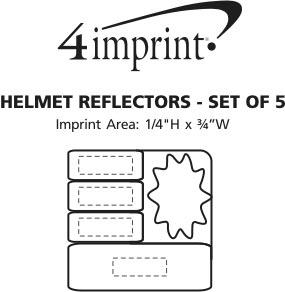 Imprint Area of Helmet Reflectors - Set of 5