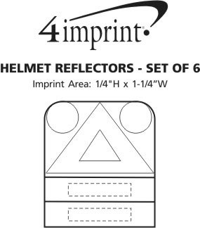 Imprint Area of Helmet Reflectors - Set of 6