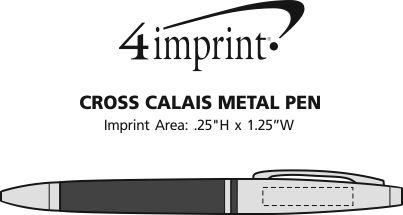 Imprint Area of Cross Calais Twist Metal Pen