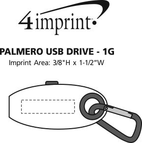 Imprint Area of Palmero USB Drive - 16GB - 3.0