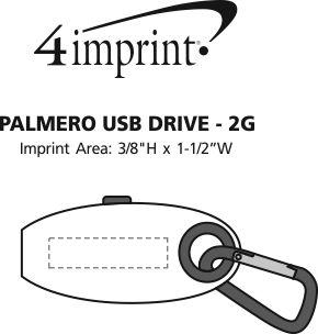 Imprint Area of Palmero USB Drive - 2GB - 3.0
