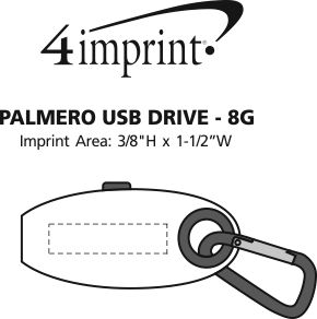 Imprint Area of Palmero USB Drive - 8GB - 3.0