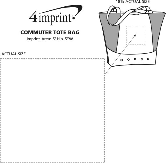 Imprint Area of Commuter Tote Bag
