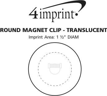 Imprint Area of Round Magnet Clip - Translucent