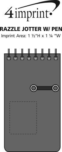 Imprint Area of Razzle Jotter with Pen