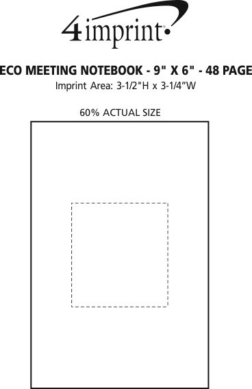 """Imprint Area of Eco Meeting Notebook - 9"""" x 6"""" - 48 Page"""