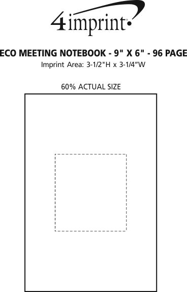 """Imprint Area of Eco Meeting Notebook - 9"""" x 6"""" - 96 Page"""