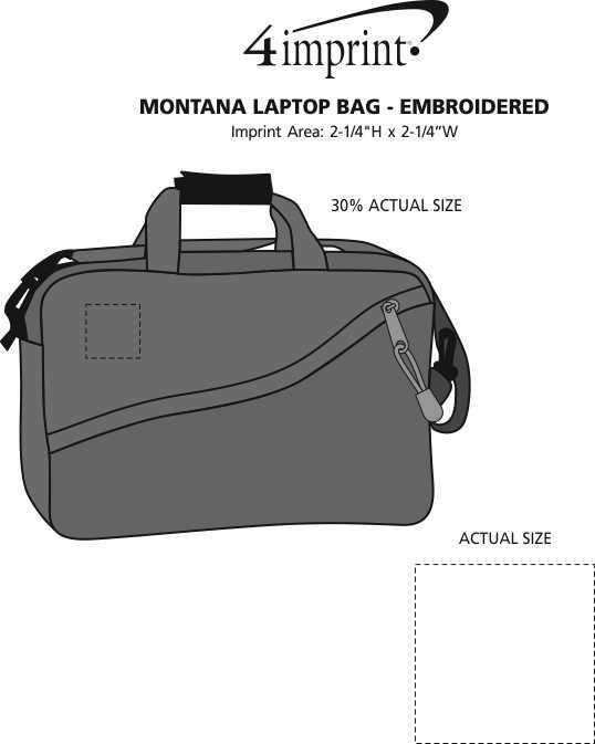 Imprint Area of Montana Laptop Bag - Embroidered