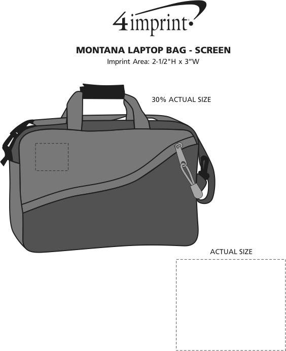 Imprint Area of Montana Laptop Bag - Screen