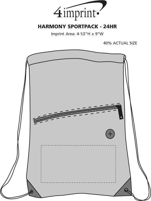 Imprint Area of Harmony Sportpack - 24 hr