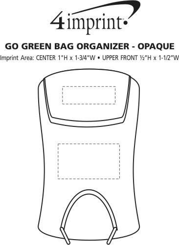 Imprint Area of Go Green Bag Organizer - Opaque