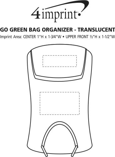 Imprint Area of Go Green Bag Organizer - Translucent