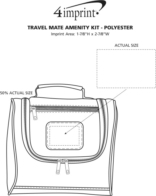 Imprint Area of Travel Mate Amenity Kit - Polyester