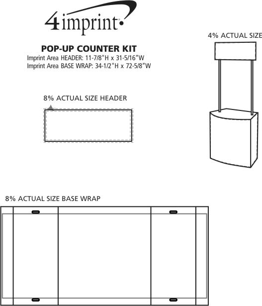 Imprint Area of Pop-Up Counter Kit