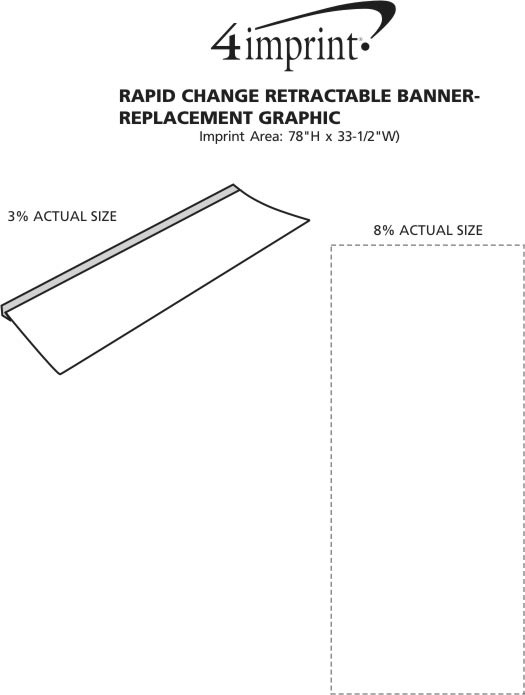 Imprint Area of Rapid Change Retractable Banner - Replacement Graphic