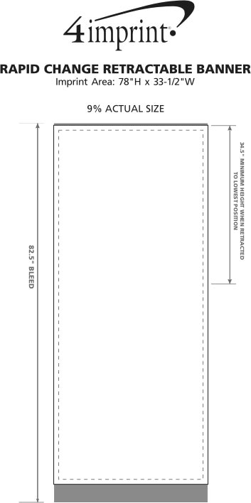 Imprint Area of Rapid Change Retractable Banner Display