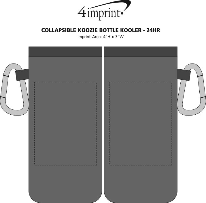 Imprint Area of Collapsible Koozie® Bottle Kooler - 24 hr