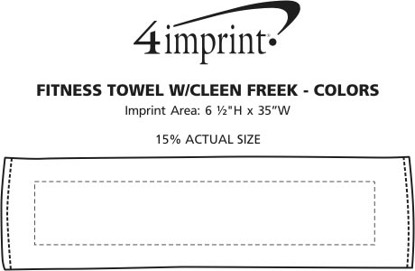 Imprint Area of Fitness Towel with CleenFreek - Colors