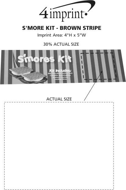 Imprint Area of S'mores Kit - Brown Stripe