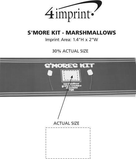 Imprint Area of S'mores Kit - Marshmallows